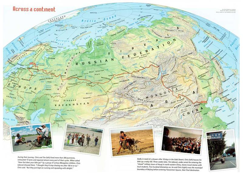 På liggecykel fra Moskva til Beijing