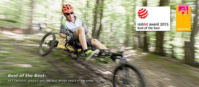Hase Bikes Kettweisel KROSS vinder RED DOT Best of the Best