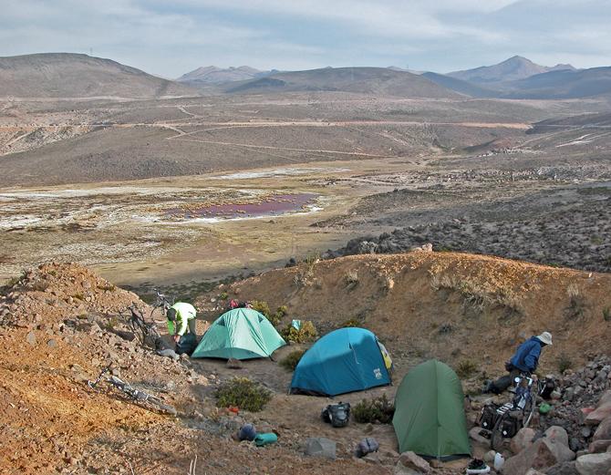 Turcykling-campingudstyr