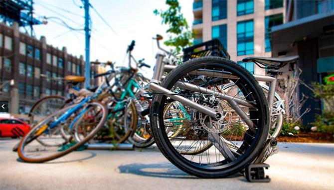 Canadisk foldecykel når deres finanseringsmål på en´dag