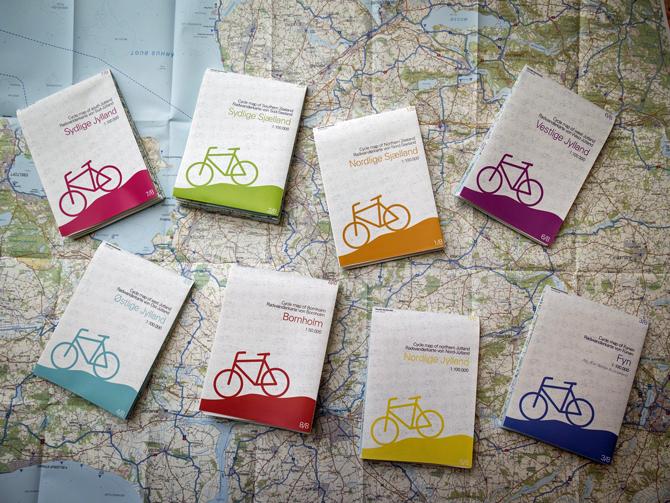 Nye Cykelkort med 297 cykelruter i hele Danmark