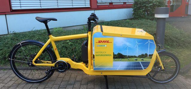 Dansk ladcykel kører for internationalt budfirma