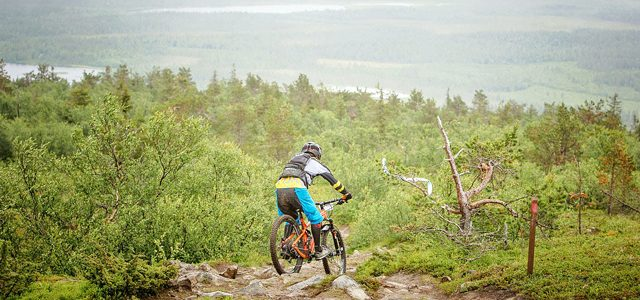På Mountainbike nord for Polarcirklen