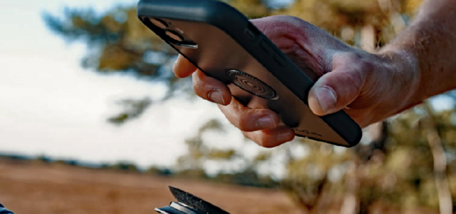 Vacuum holder til smartphonen