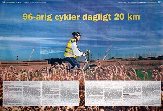 96 årig cykler 20 km hverdag | CYKELPORTALEN