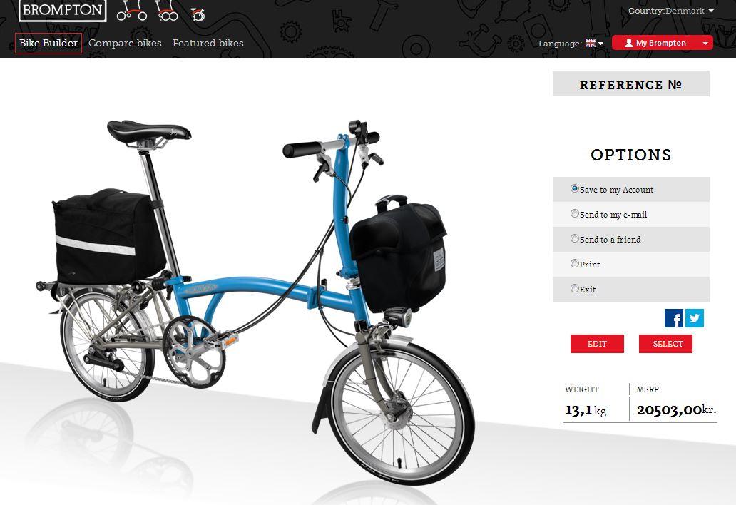 Brompton Bikebuilder | CYKELPORTALEN