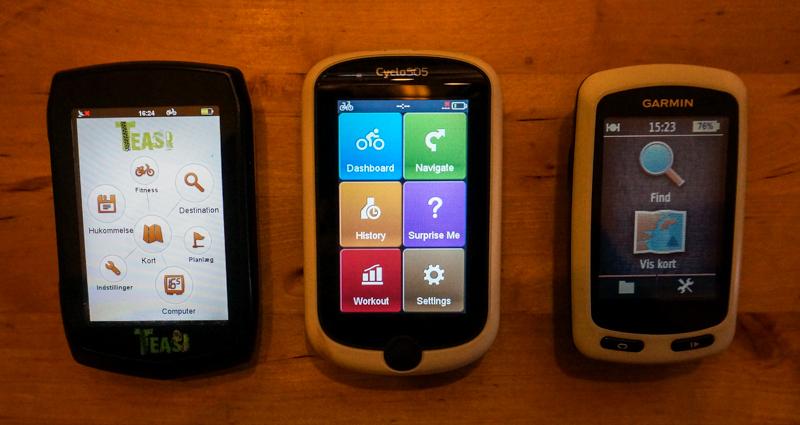 TEST af cykel GPS i tre forskellige klasser.