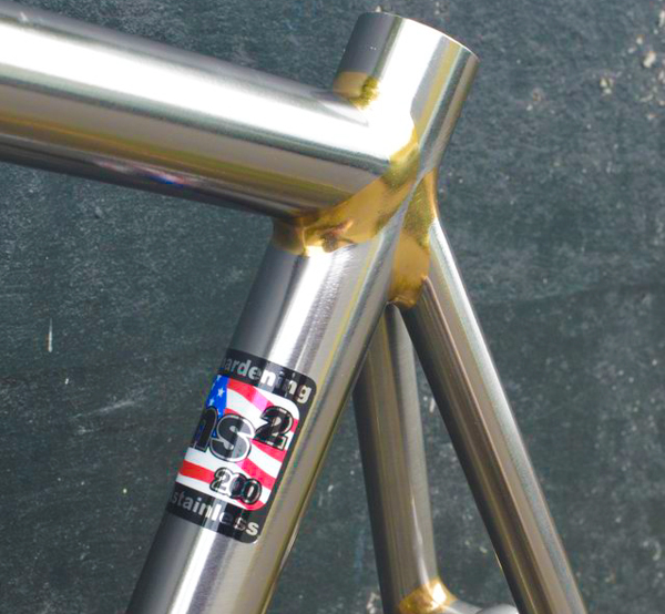 Soma Fab's stainless steel Triple Cross disc brake cyclocross bike. © Cyclocross Magazine