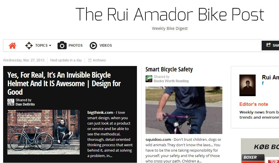 The Rui Amador Bike Post