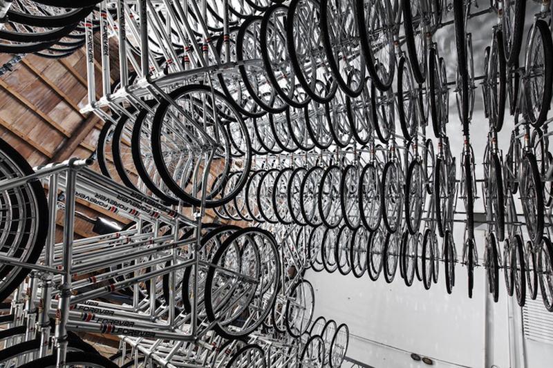 Cykelinstallation i historiske rammer