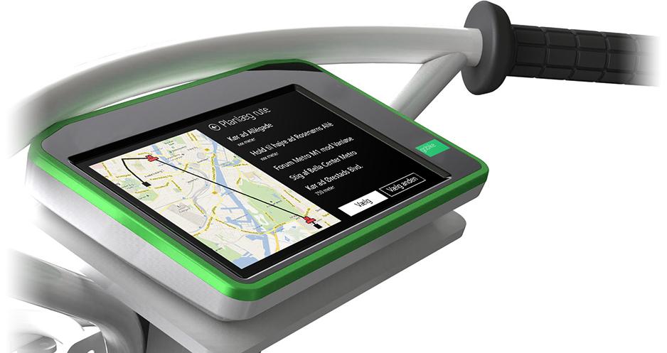 De første 1.200 interaktive cykler er på vej til København